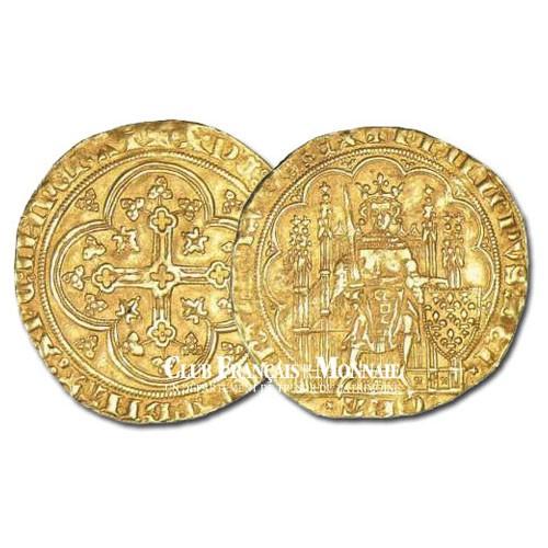 Écu d'Or - Philippe VI à la chaise - France 1328-1350