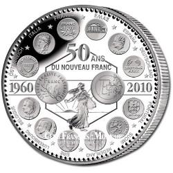 2010 - 50 ans du NOUVEAU FRANC - Argent