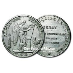 Module du 10 Francs Argent - Essai Génie - 1929 SPL