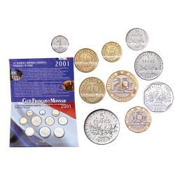 2001 - SERIE FRANCAISE EN FRANCS -BU