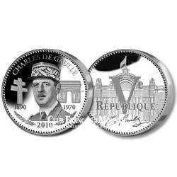 Charles de Gaulle  Charles de Gaulle  2010 l'Année du Souvenir - Argent