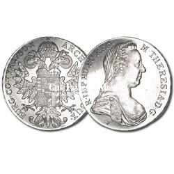 1870 - Autriche - 1 Thaler Argent Marie-Thérèse d'Autriche et de Hongrie