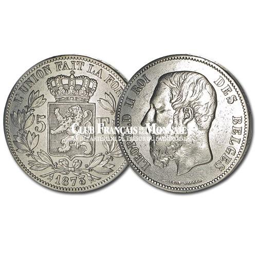 Belgique - 5 Francs Argent Léopold II Roi des Belges