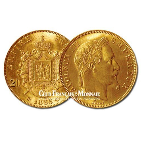 20 FRANCS OR - NAPOLEON III - 1870BB