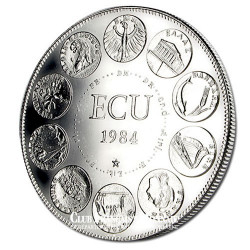 1984- Euro/Ecu - Cupronickel Avers