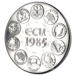 1985- Dernière Année de l'Europe des 10 - Cupronickel avers