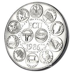 "1986- L'Europe ""des 12"" - Cupronickel Avers"