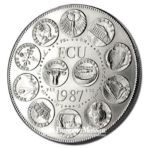 1987- Euro/Ecu- Cupronickel Avers