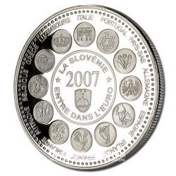 2007- La Slovénie entre dans l'Euro - Cupronickel - Avers
