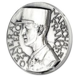 DE GAULLE - 40ème Anniversaire de la Victoire - Bronze argenté