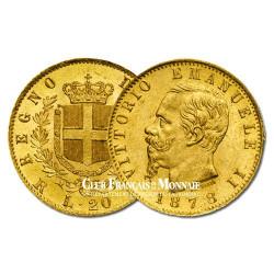20 Lires Or Italie Victor Emmanuel II (1820-1878)