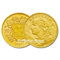 20 Francs Or Suisse Vrénéli - Helvetia
