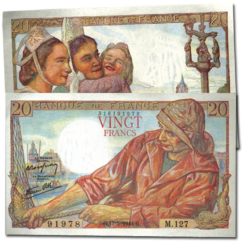 Billet 20 Francs Pêcheur