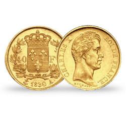 Les 4 pièces de 40 Francs Or Francs Charles X