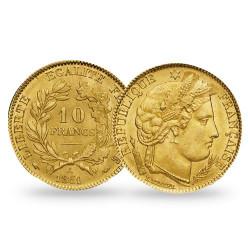 10 Francs Or Cérès IIe République 1850 A